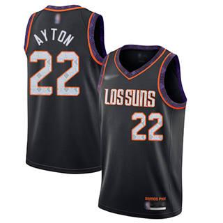 Youth Suns #22 Deandre Ayton Black Basketball Swingman City Edition 2019-2020 Jersey
