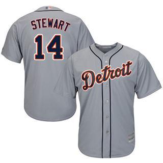 Youth Tigers #14 Christin Stewart Grey New Cool Base Stitched Baseball Jersey