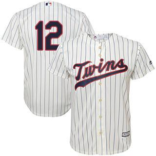 Youth Twins #12 Jake Odorizzi Cream Strip Stitched Baseball Jersey