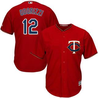 Youth Twins #12 Jake Odorizzi Red Stitched Baseball Jersey