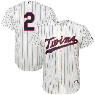 Youth Twins #2 Luis Arraez Cream Strip Stitched Baseball Jersey