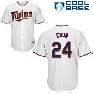 Youth Twins #24 C.J. Cron White Stitched Baseball Jersey
