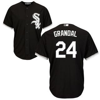 Youth White Sox #24 Yasmani Grandal Black New Stitched Baseball Jersey