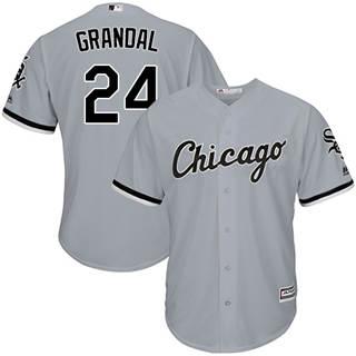 Youth White Sox #24 Yasmani Grandal Grey New Stitched Baseball Jersey